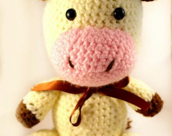 Crocheted Cow - Knitted Animals - Farm animals - Soft toys - Amigurumi - Moo