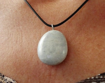 Natural stone pendant necklace handcrafted 10/16-41