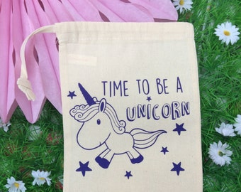 Unicorn Quote Drawstring Bag