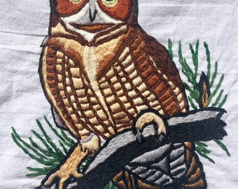 Great-Horned Owl Embroidery