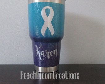Personalized Ovarian Cancer Awareness 30 oz Stainless Steel Tumbler