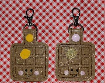 Waffle Key Chain/ Snap Tab