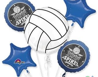 Volleyball Bump Set Spike Bouquet Of Balloons - School Pride - Team Pride - Team Spirit - Cheer