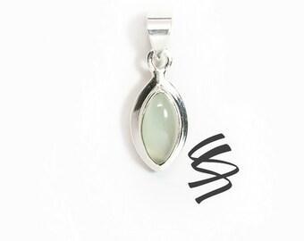 Chalcedony Necklace Chalcedony Silver Pendant Baby Blue Stone Jewelry Baby Blue Gemstone Baby Blue Necklace Pendant 925 Sterling Silver Gift