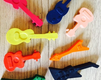 Guitar shaped crayons
