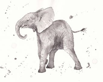 Original Art- Ink Elephants
