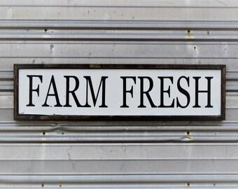 """FARM FRESH - SIGN - 33""""x9"""""""