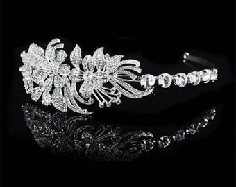 Luxury Crystal Floral Headband
