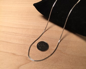 "Sterling Silver Italian Box Chain 19"""