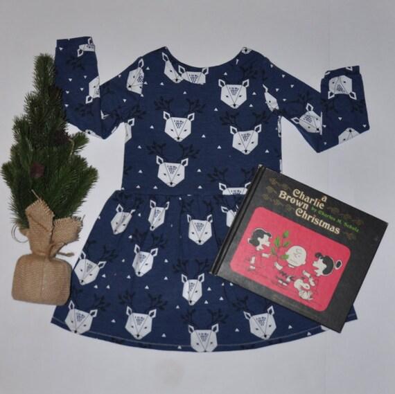 Blue Reindeer Dress