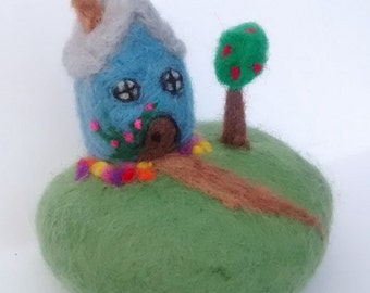 Felted house stone
