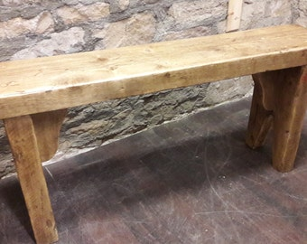 Handmade rustic wooden bench reclaimed wood vintage