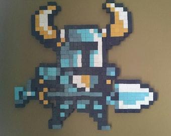 Shovel Knight Wooden 8bit Video Game Pixel Wall Art