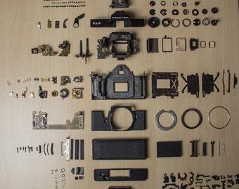 Praktica EE2 film camera - dismantled for art project etc