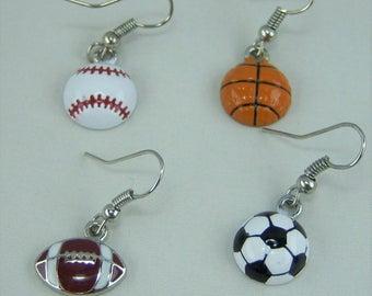 E245, Sports Enamel Earrings