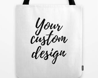 Custom Tote Bag, Personalized Gifts For Women Birthday Gifts, Gifts For Mom From Daughter, Your Name, Custom Order, Reusable Grocery Bag