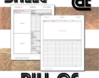 Excel templates - Cost sheet and Bill of materials for product cost in Fashion Designing