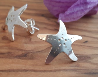 Sterling Silver 'Sea Star' Stud Earrings