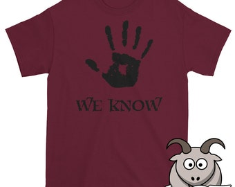 We Know Shirt, Dark Brotherhood Shirt, Funny T Shirts, Gaming Shirt, Funny Shirts, Video Game T Shirt, Short Sleeve Shirt, Funny Game Shirt