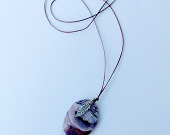 PERSONAL POWER NECKLACE  - Karen Hill Tribe Silver - Purple Ocean Jasper