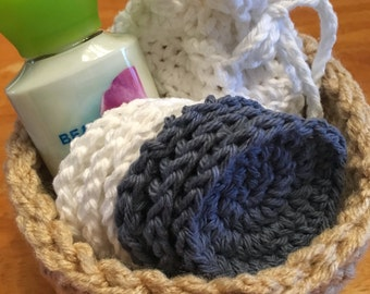 Crochet Gift Basket ~ Bath/Spa