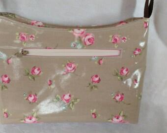 Small zipped cross body bag, shoulder bag, zip top bag