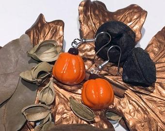 Thanksgiving Pumpkin Earrings