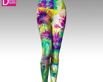 Yoga Leggings, Vivid Flowers