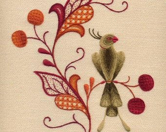 "Crewelwork Embroidery Kit ""Erica's Perch"""