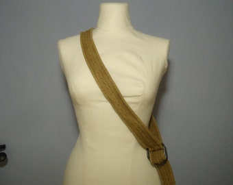 True vintage 80's belts ocher ochre belt belt