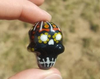Halloween Themed Sugar Skull Pendant