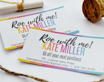 """Roe With Me Business Card Size - discount coupon designed for Consultants 