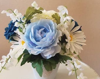 Light Blue Floral Arrangement