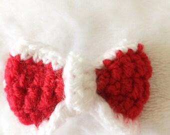 Clip hair crochet bow.