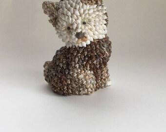 Vintage Seashell Shell Dog Figurine Adorable Dog Shell Animal