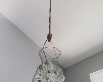 "Rustic Chandelier - ""Light Weave"""