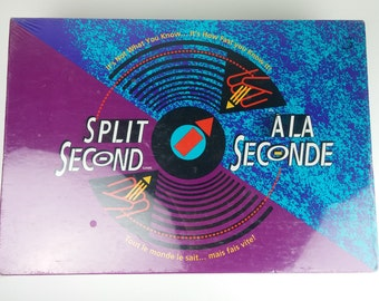 Split Second - A La Seconde - New Vintage Parker Brothers Board Game - 1992 Sealed - How Fast Do You Know It!