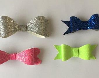 YOU PICK TWO Custom Glitter Hair Bows