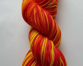 Hand Dyed Yarn 75/25% Superwash Wool / Nylon DK 100g