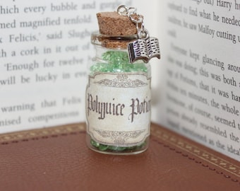 Harry Potter inspired Polyjuice Potion Charm (available as Necklace/Key Ring/ Bag Charm)