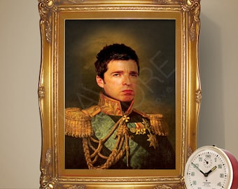 Noel Gallagher Renaissance Portrait Print, Noel Gallagher Poster, Oasis Poster, Music Print