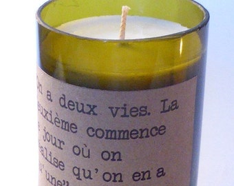 CANDLE SOY Confucius