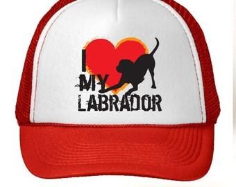 I Love My Labrador Retriever Trucker Hat