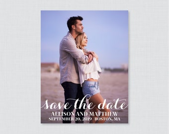 Printable OR Printed Save the Date Cards - Photo Save our Date Cards for Wedding - Wedding Save the Dates Card with Picture 0003