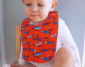 Drool Baby Drool Fish Bib (Snaps) feat Imported German Organic Fabric