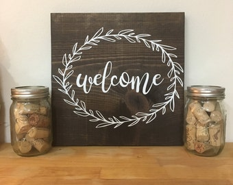 Welcome Rustic Sign | Home Decor | Wooden Sign | Wall Art | Farmhouse Decor | Wall Decor