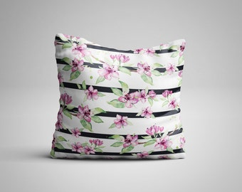 Flower Stripes Cushion.