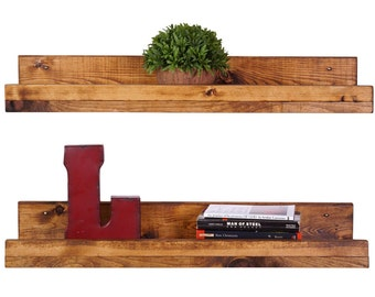 Rustic Pine Floating Shelves (2 Pack)