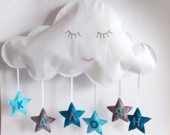Baby felt decor, Baby shower gift, Baby name decor, Custom baby gift, Nursery felt decor, Baby gift nursery, Custom nursery decor