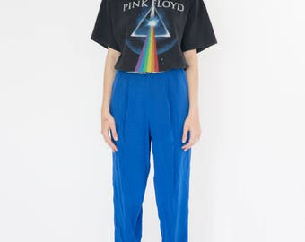 Vintage 90s Electric Blue Pants
